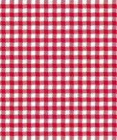 Feestservetten geruit rood wit 3 laags 20 stuks