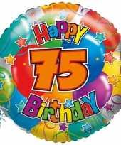 Folie ballon 75 jaar 35 cm