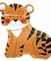 Folie ballon tijgertje 90 cm