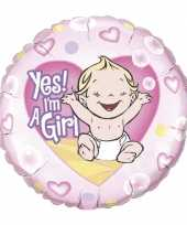 Folie ballon yes i am a girl