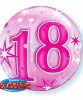 Folie helium ballon 18 jaar roze 45 cm