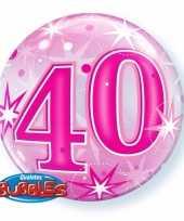 Folie helium ballon 40 jaar roze 45 cm
