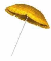Gele parasol voor een hawaii feest