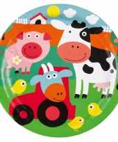 Kinderfeest bordjes boerderij