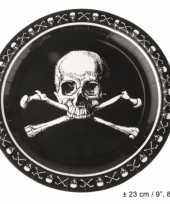Kinderfeest piraten borden zwart
