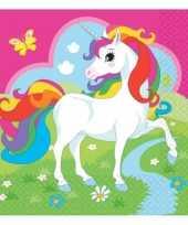Kinderfeest unicorn servetjes 20 stuks