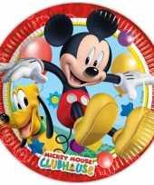 Kinderfeestje bordjes mickey mouse