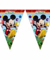 Kinderfeestje vlaggetjes mickey mouse 2 3 meter