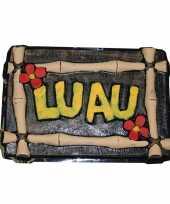 Luau decoratie bord hawaii feest