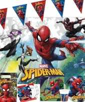 Marvel spiderman kinderfeest tafeldecoratie pakket 2 6 personen