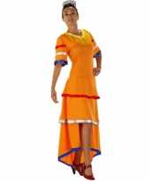 Oranje feestjurk voor dames