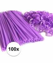 Paarse ballonstaafjes 100 stuks
