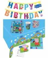 Peppa big kinderfeestje feestpakket 7 12 personen