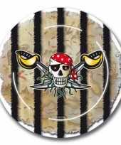Piraten partijtje feestbordjes 8x