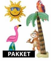 Tropische themafeest pakket met opblaasdecoratie