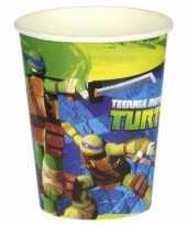 Turtles themafeest drinkbekertjes