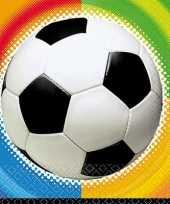 Voetbal feestje servetten 25 cm